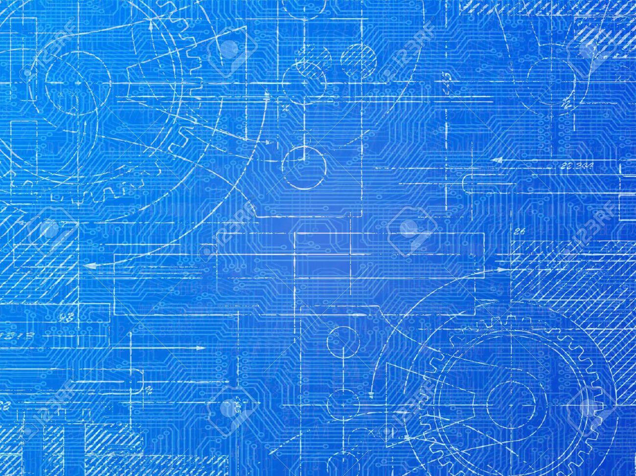 Technical Blueprint Electronics And Mechanical Background ...