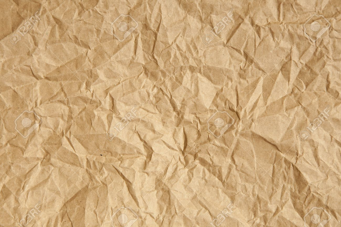 crumpled brown parcel packing paper background texture stock photo