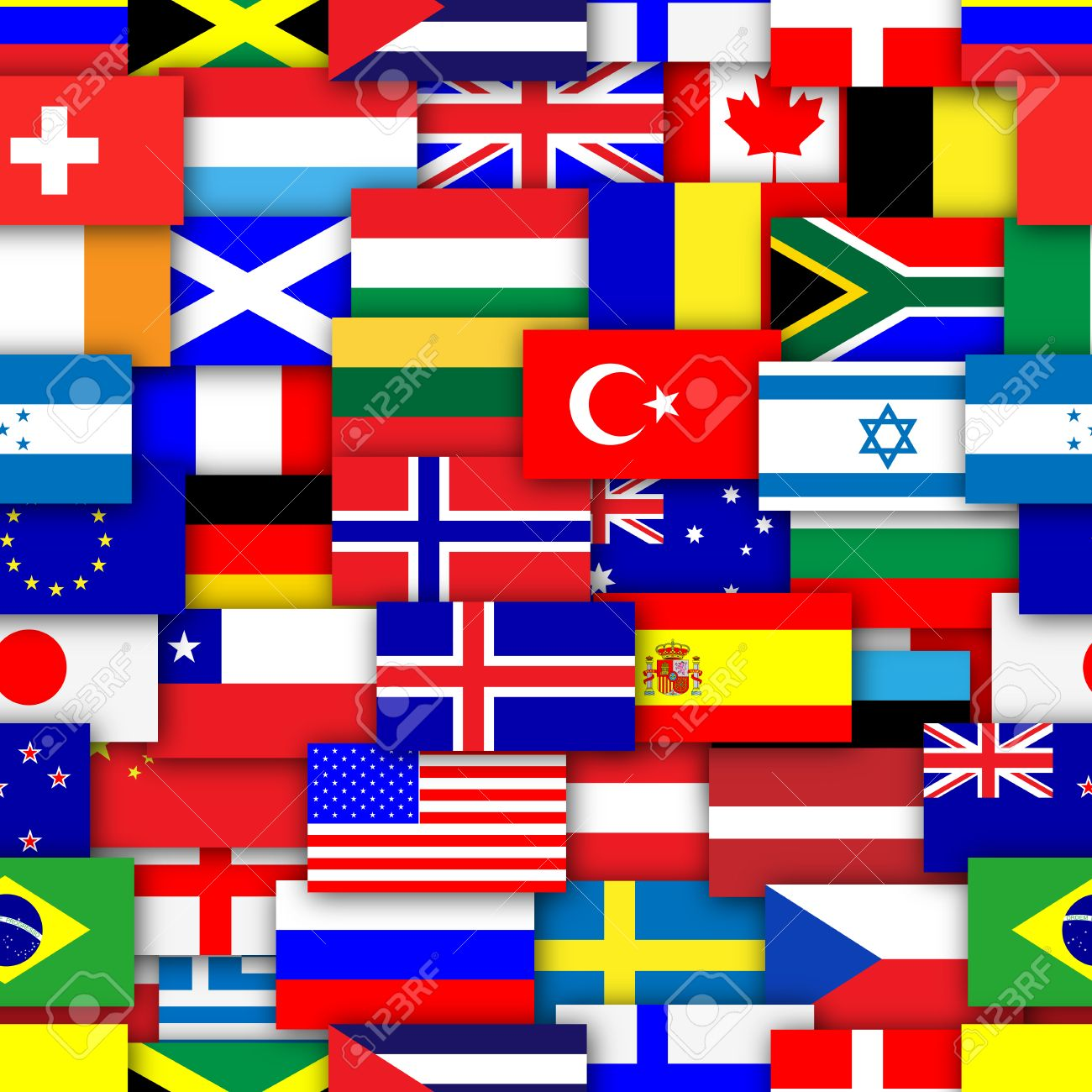 Flags of the world repeating tileable background wallpaper Stock Photo - 23191307