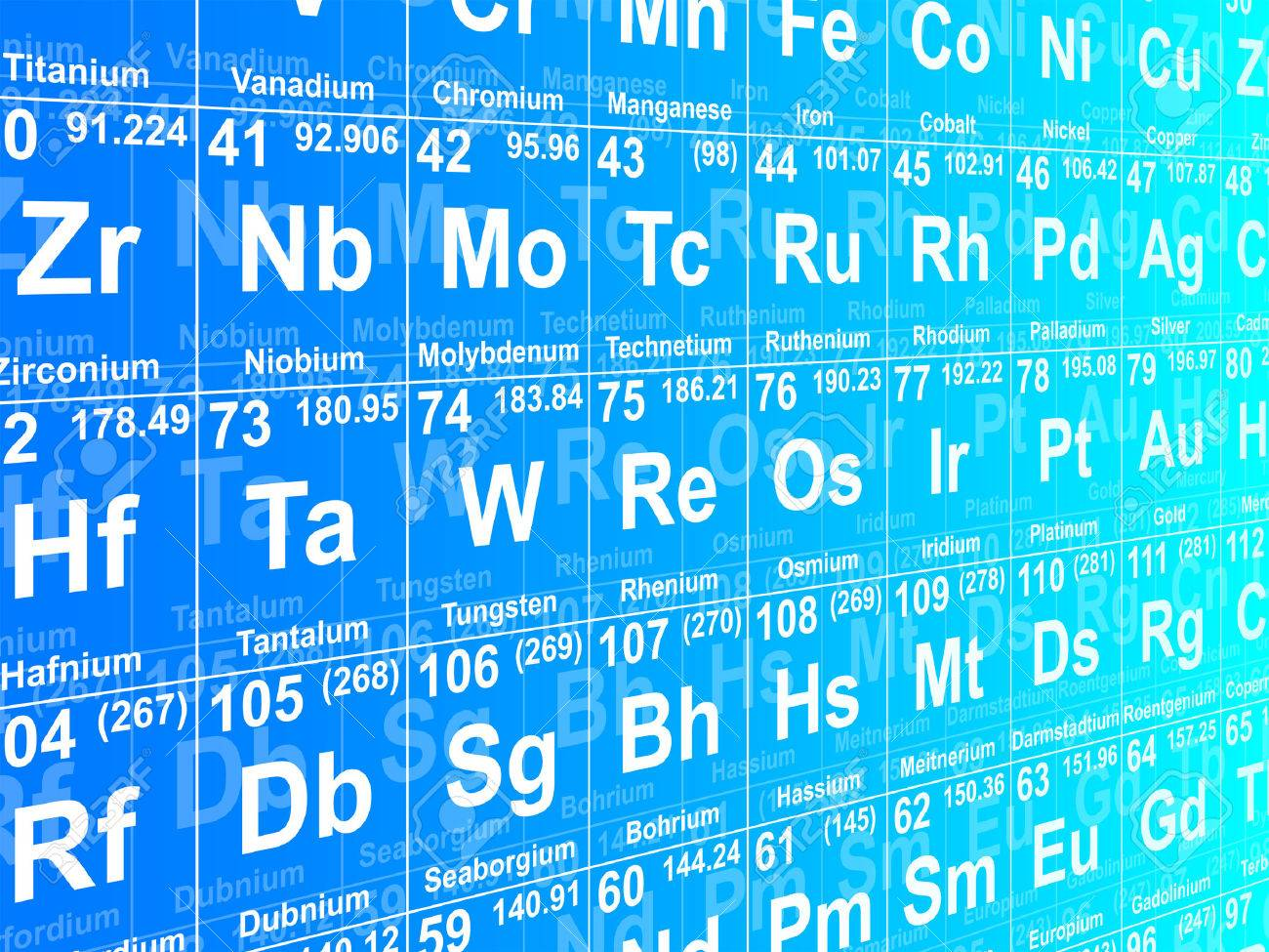 Periodic Table Of The Elements. Background Illustration Royalty Free ...