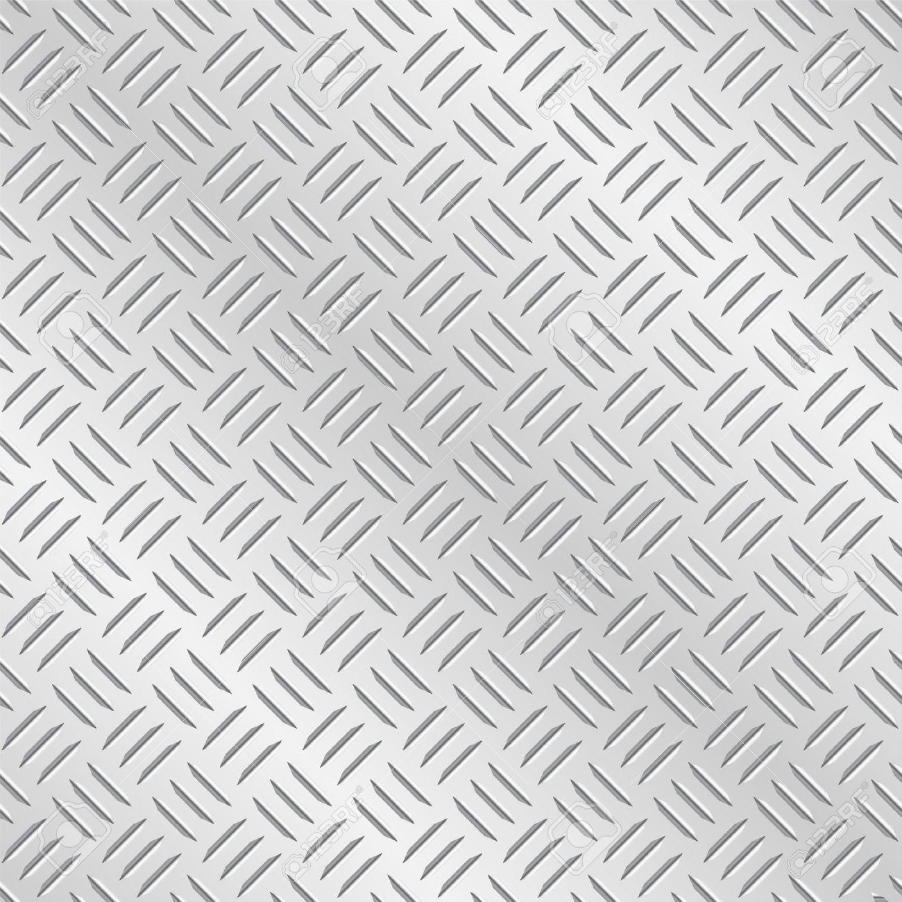 メタル ダイヤモンド チェカー プレート 残された タイルのベクトル