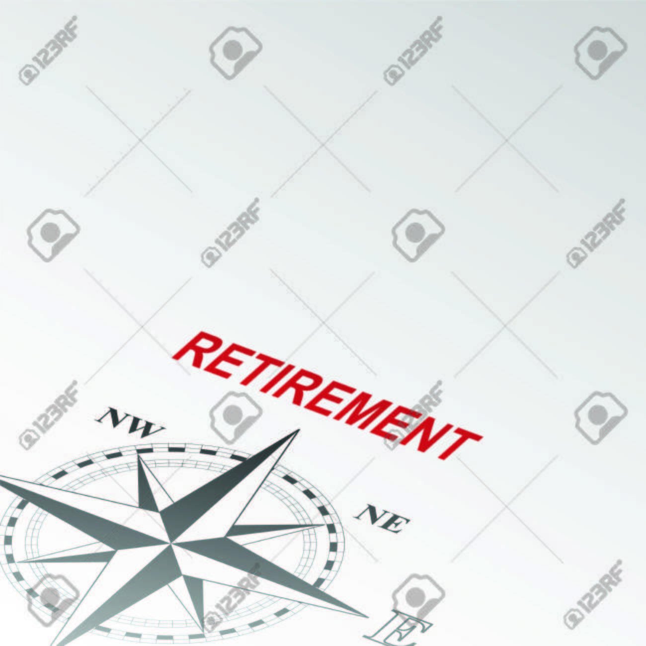 compass rose pointing to retirement word vector royalty compass rose pointing to retirement word vector stock vector 47667611
