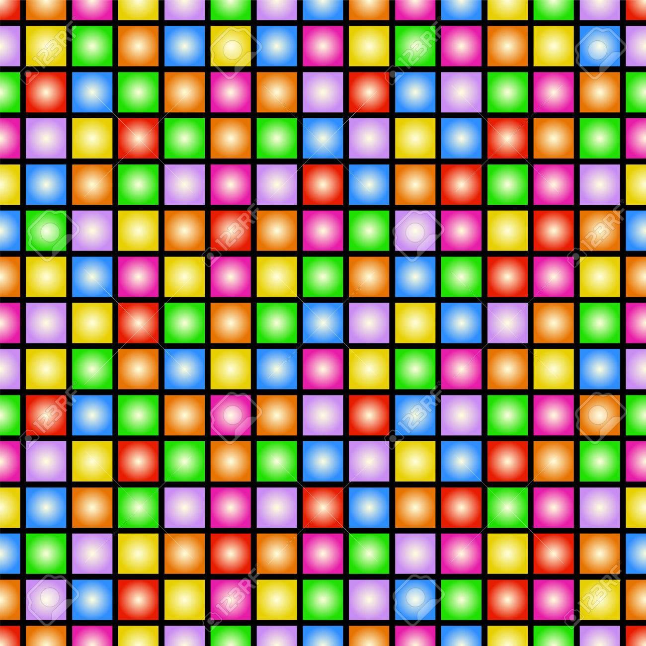 Papier Peint Vecteur Funky Coloré De Style Des Années 80 Carreler