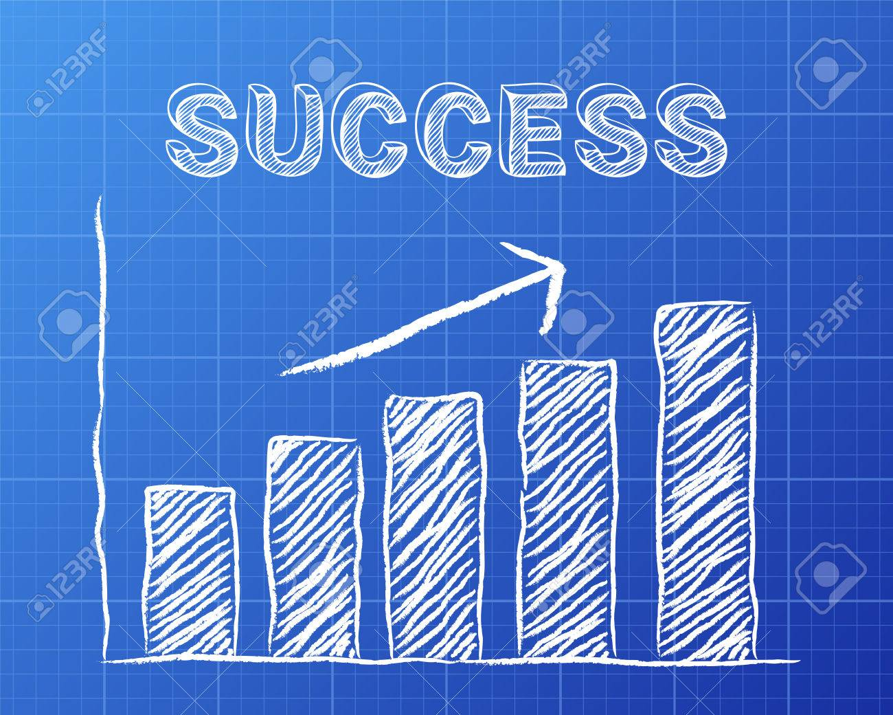 Increasing graph and success word on blueprint background royalty increasing graph and success word on blueprint background stock vector 72940779 malvernweather Choice Image
