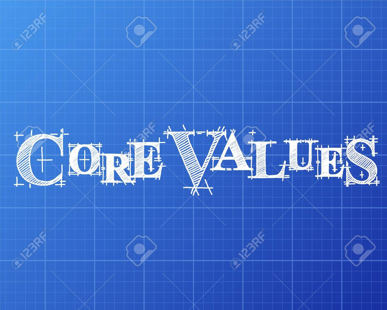 Core values text hand drawn on blueprint background royalty free core values text hand drawn on blueprint background stock vector 77565326 malvernweather Gallery