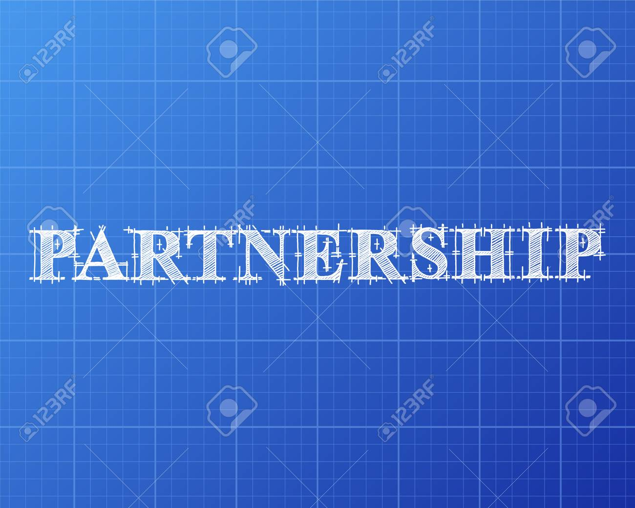 Partnership text hand drawn on blueprint background royalty free partnership text hand drawn on blueprint background stock vector 79651825 malvernweather Gallery