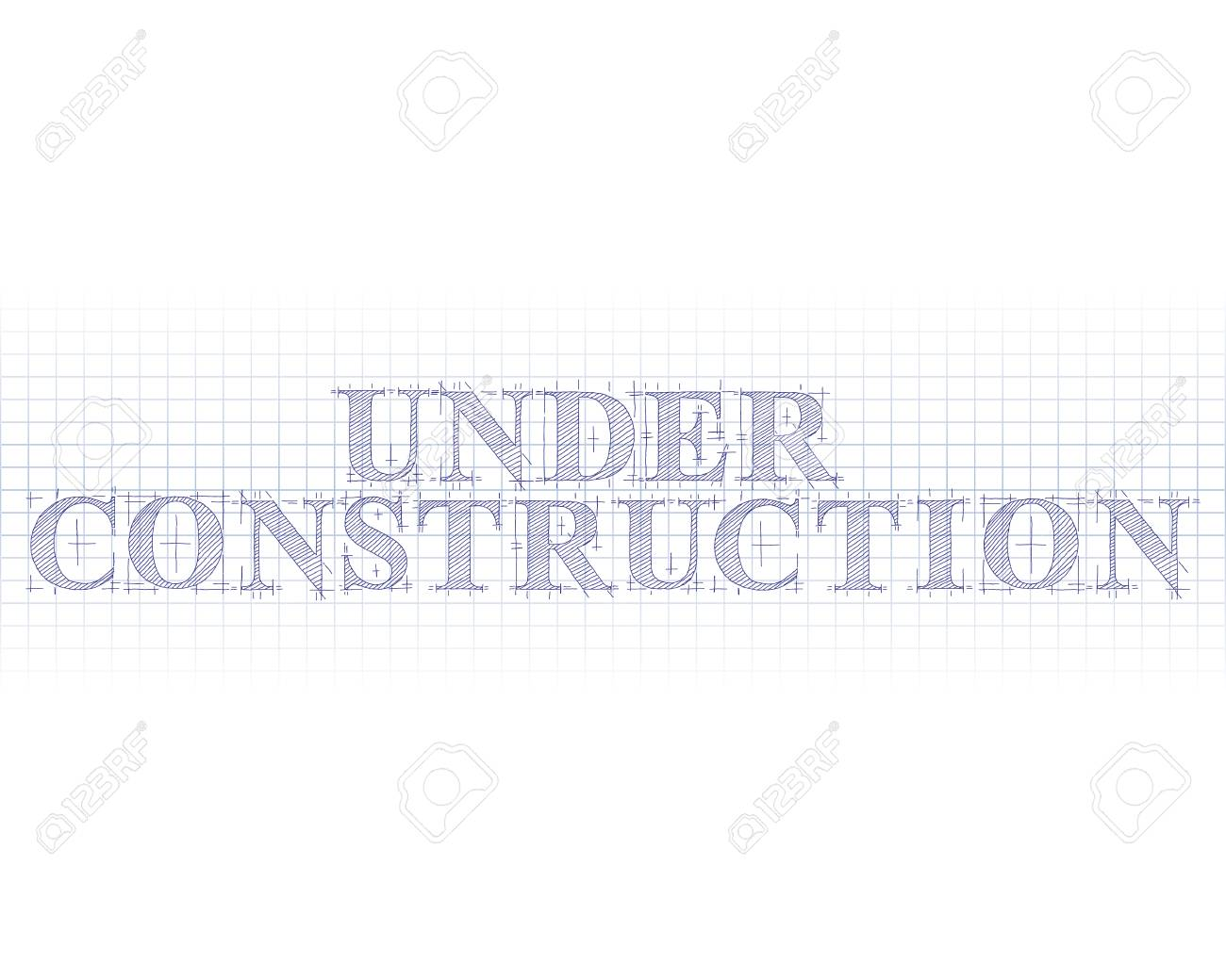 Under construction word in technical drawing on graph paper royalty under construction word in technical drawing on graph paper stock vector 87215887 ccuart