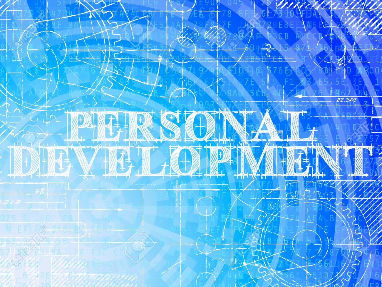 Personal development word on high tech blueprint and data background personal development word on high tech blueprint and data background stock vector 87281198 malvernweather Gallery