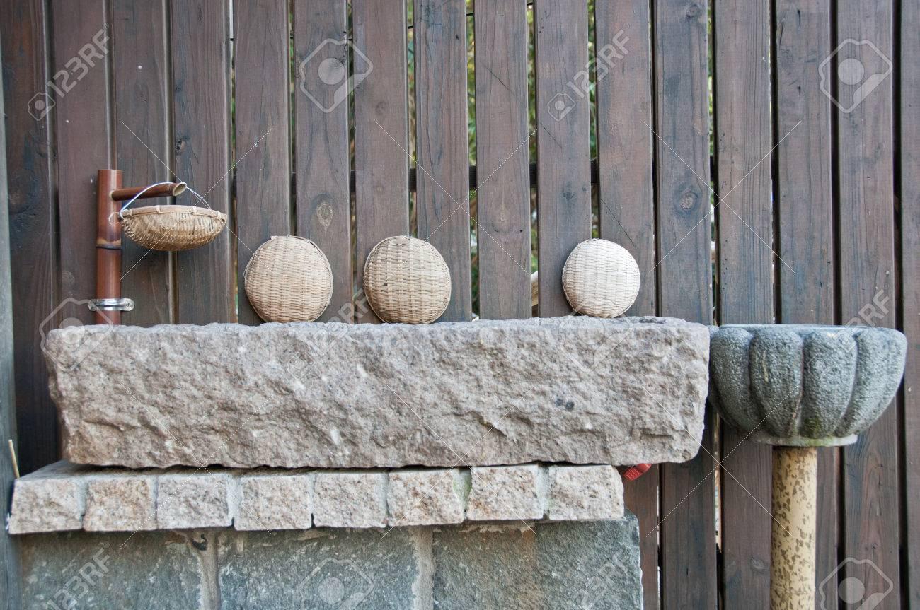 Japonaise Evier De Lavage Traditionnel Banque D Images Et Photos