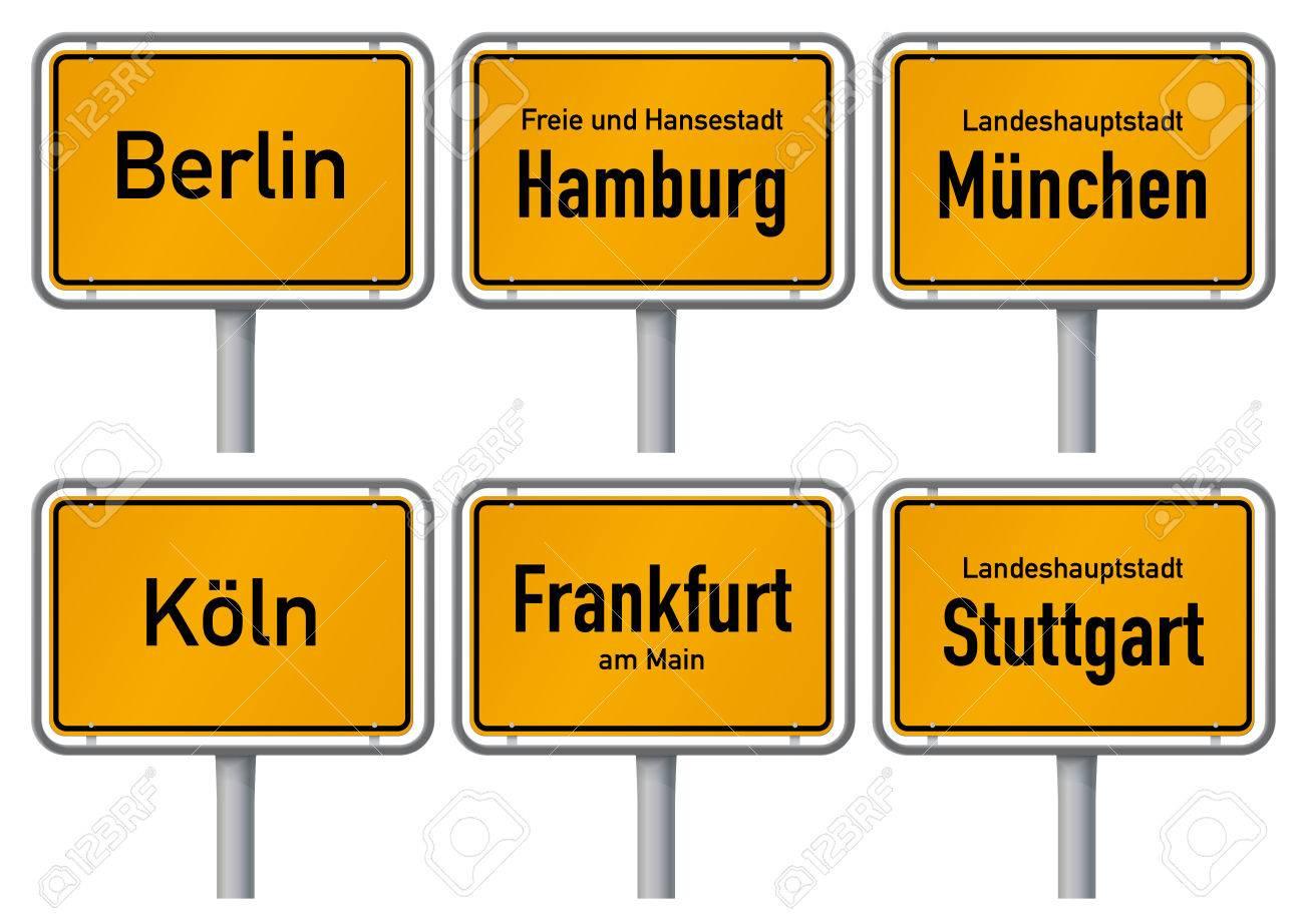 The largest cities of Germany: Berlin, Munich, Hamburg