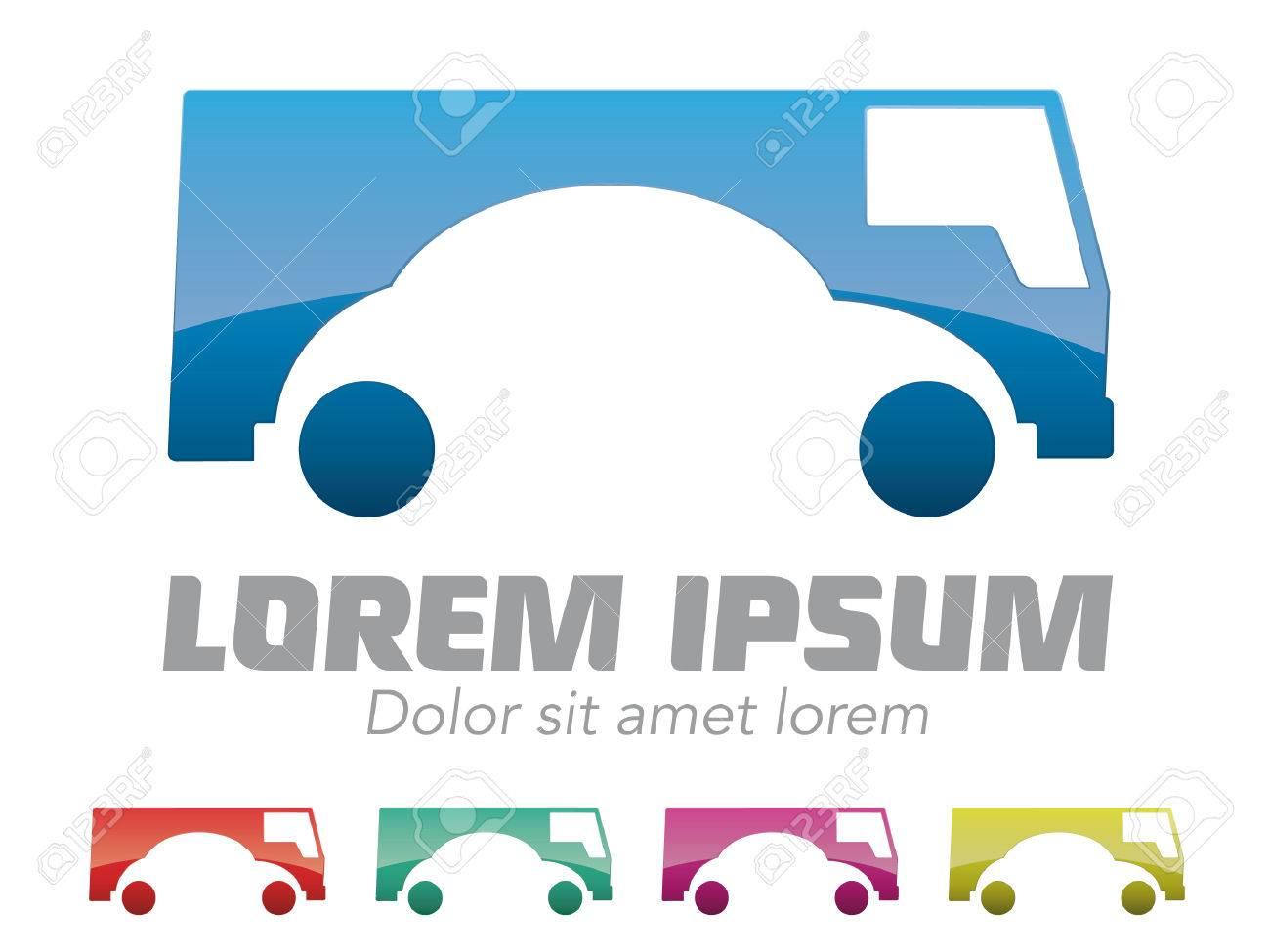 Car Rental Car Dealer Company Vector Logo Design Template Vector