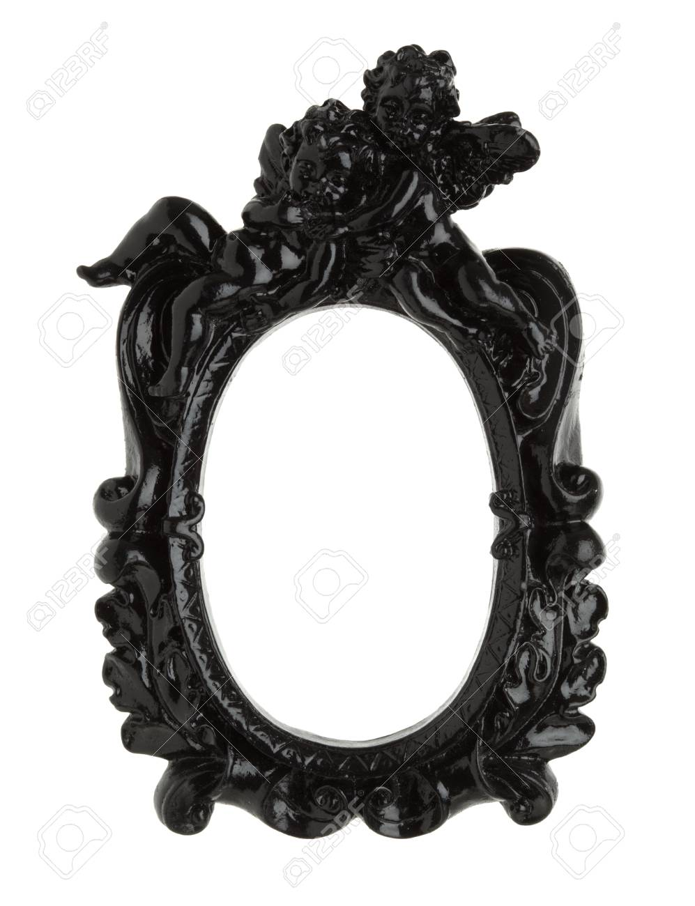 Black Baroque Picture Frame Isolated With Clipping Path Stock Photo ...