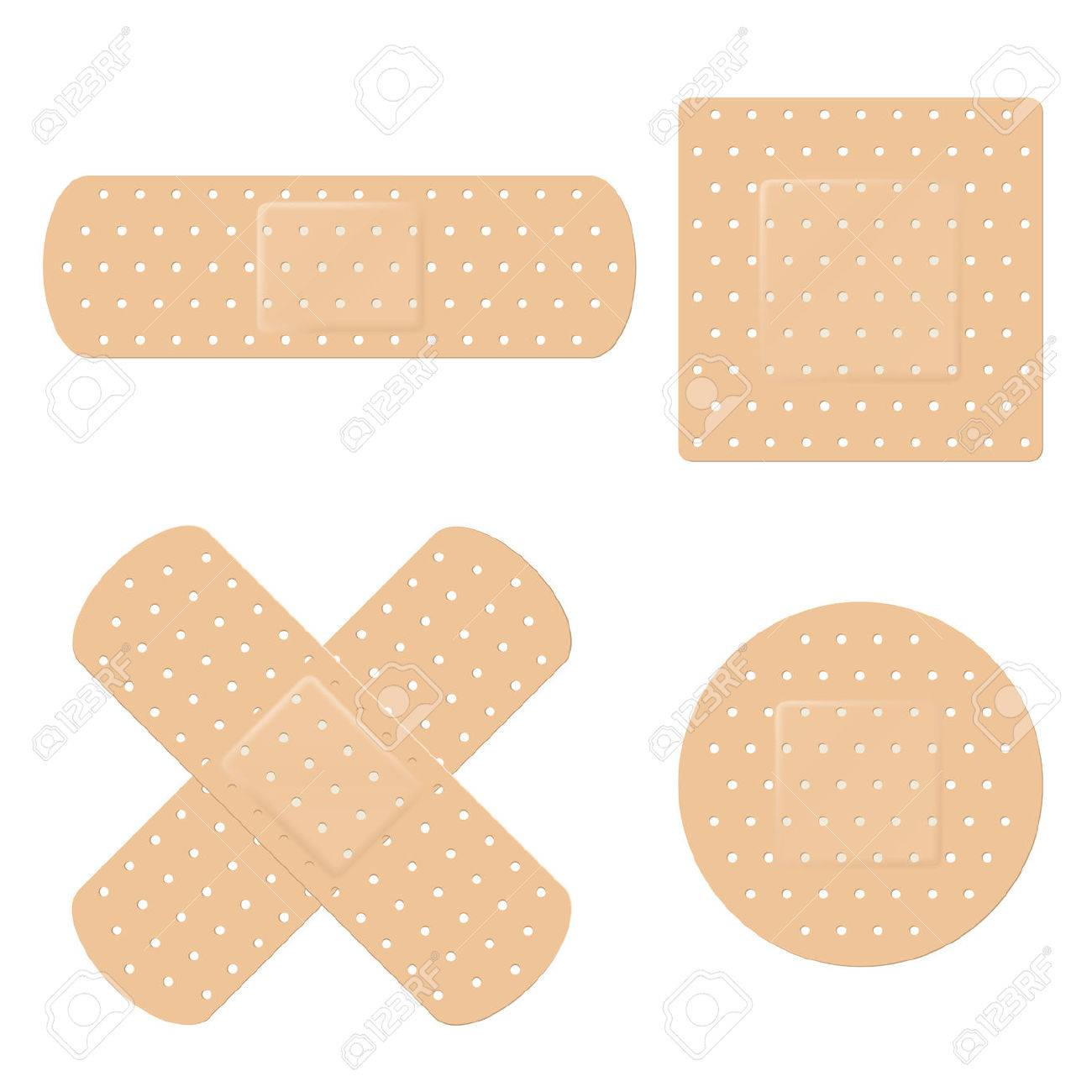 vector illustration of adhesive band aid strips royalty free