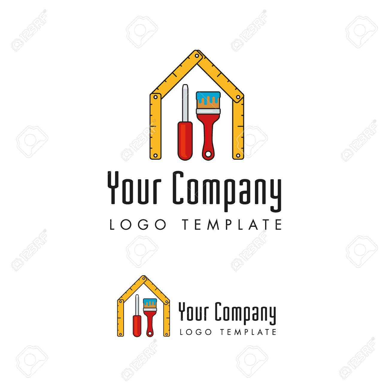 Janitors And Facility Management Company Logo Template Royalty Free ...