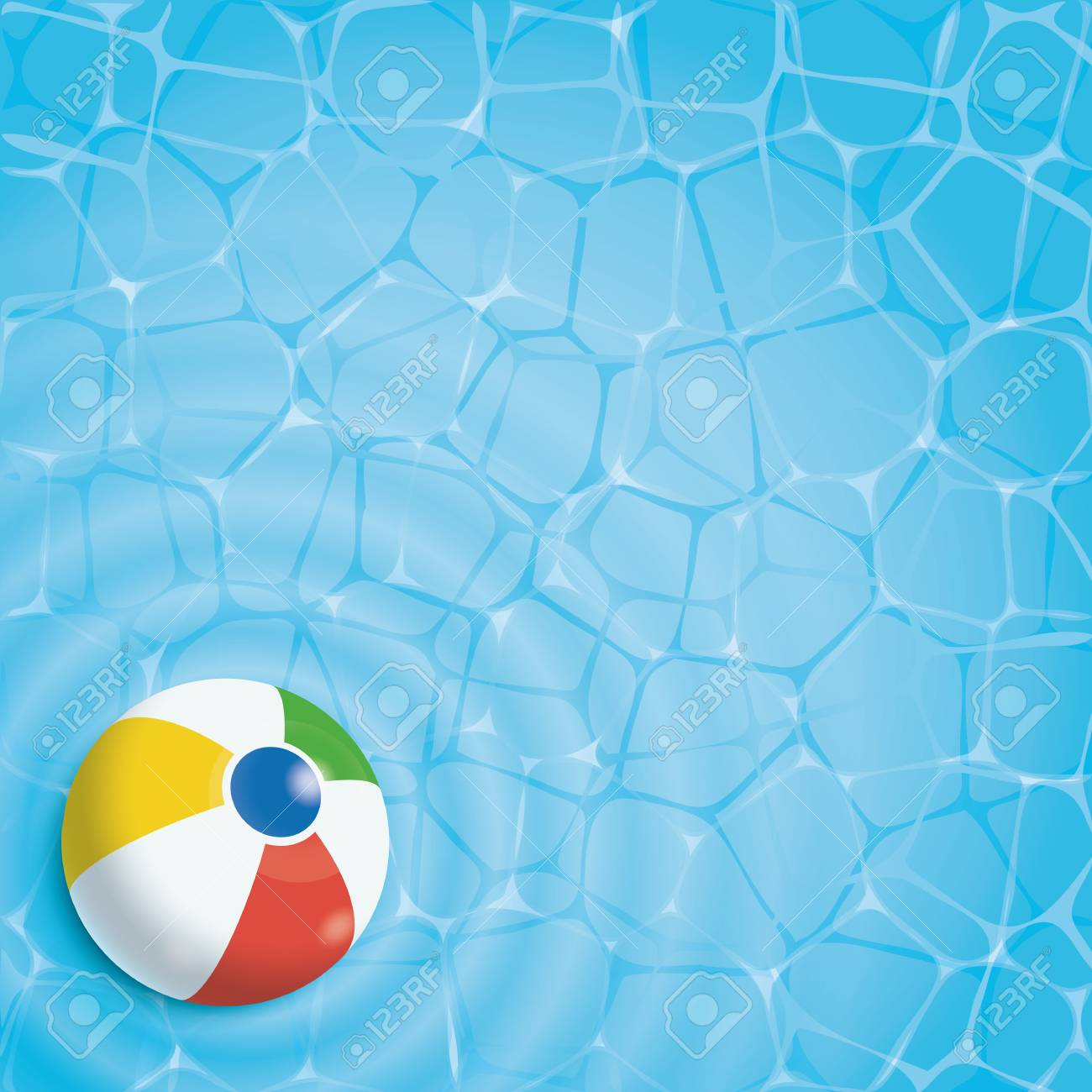 Beach Ball In Pool Intended Beach Ball In Swimming Pool Top View Stock Vector 80786720 Summer Background Ball In Swimming Pool Top View Royalty
