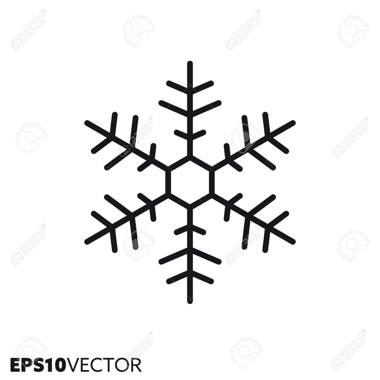 Christmas Holidays Icon.Snowflake Line Icon Outline Symbol Of Christmas Holidays And