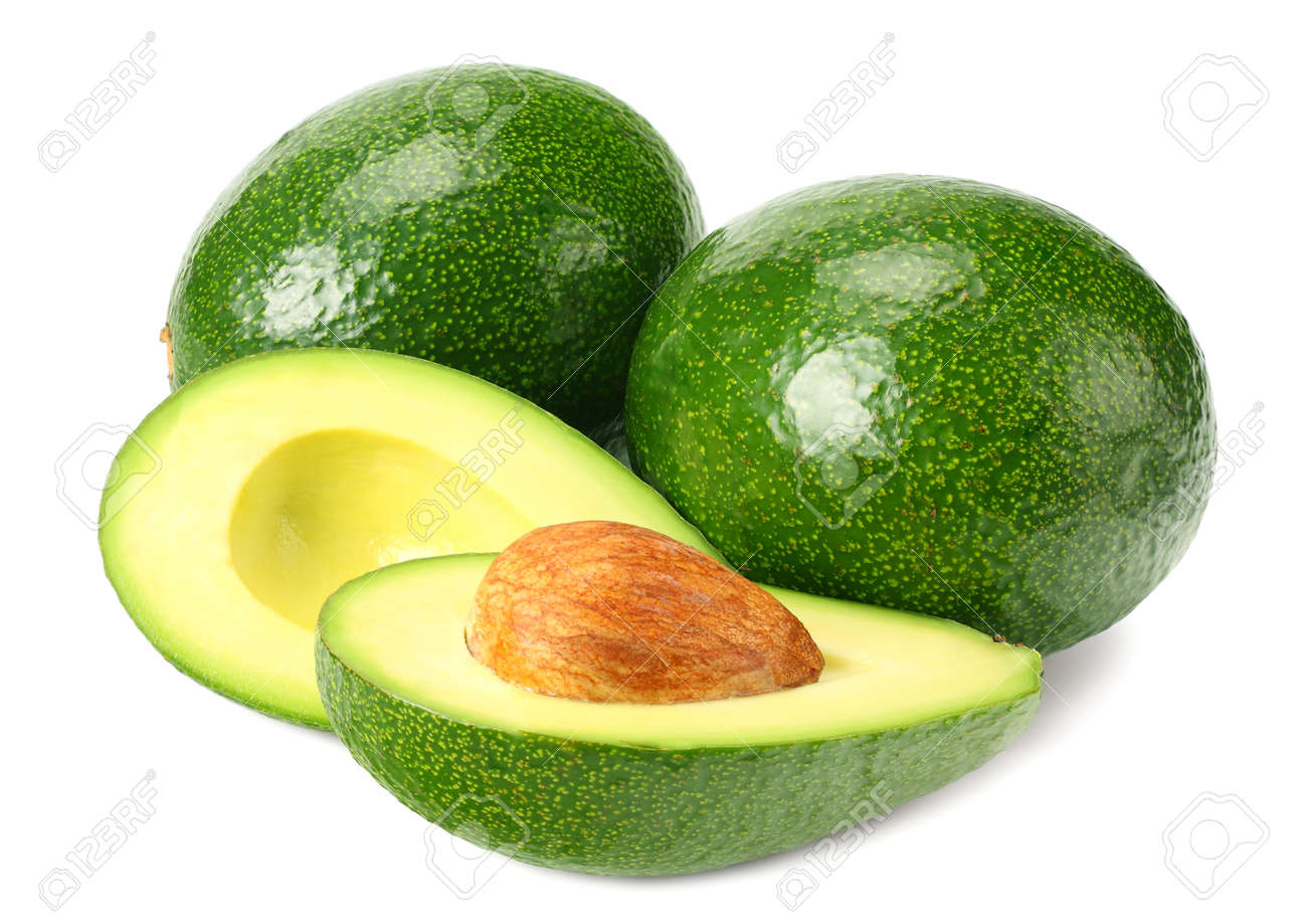 healthy food. fresh avocado with slices isolated a on white background - 126641910