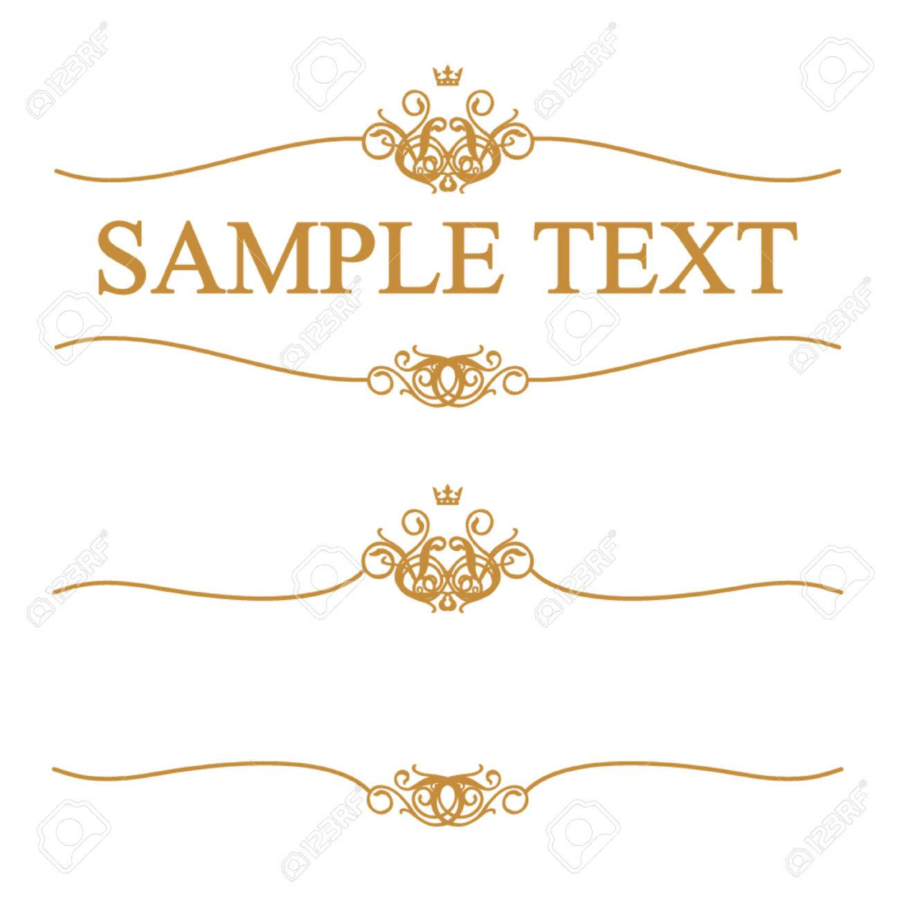 golden frame with crown stock vector 1372736