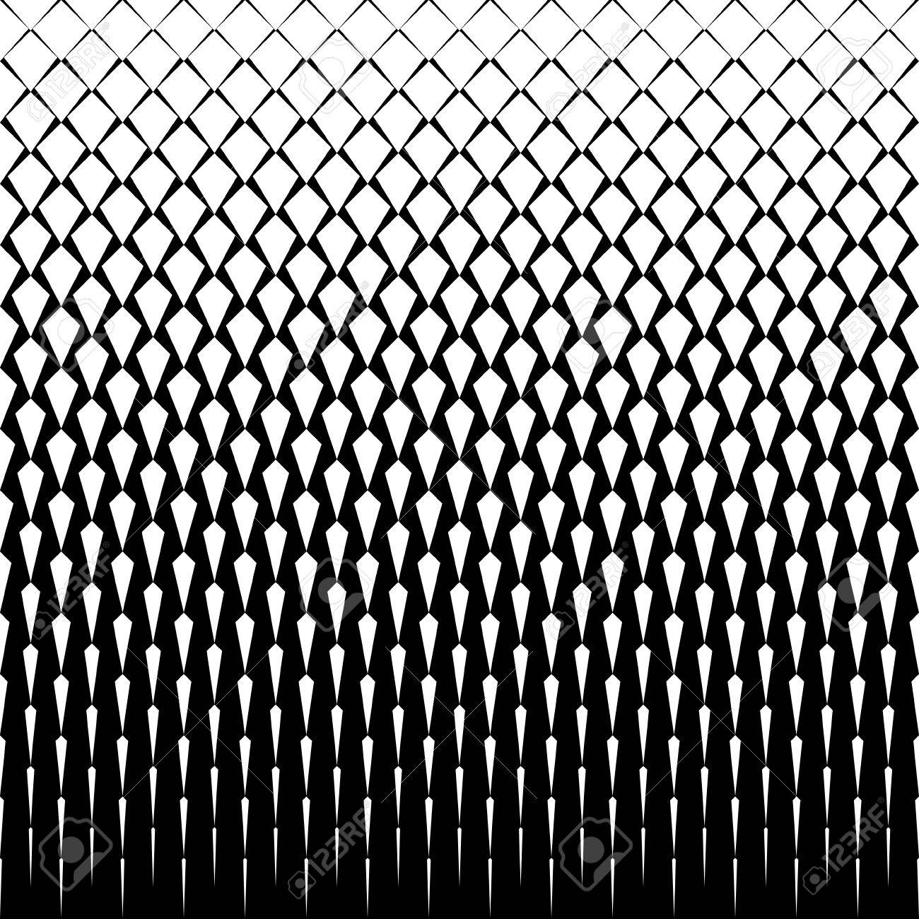 Vector art deco tiles pattern abstract gradient op art seamless vector art deco tiles pattern abstract gradient op art seamless monochrome background with rhombus voltagebd Images