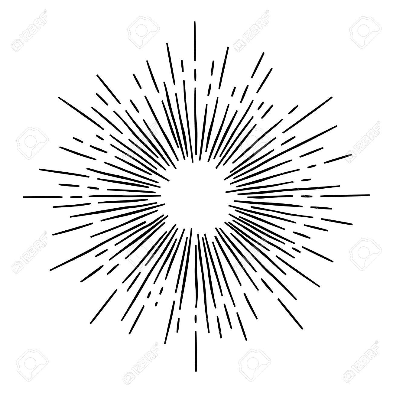 monochrome hand draw hipster style retro vector starburst with rh 123rf com free vector starburst illustrator free vector starburst background