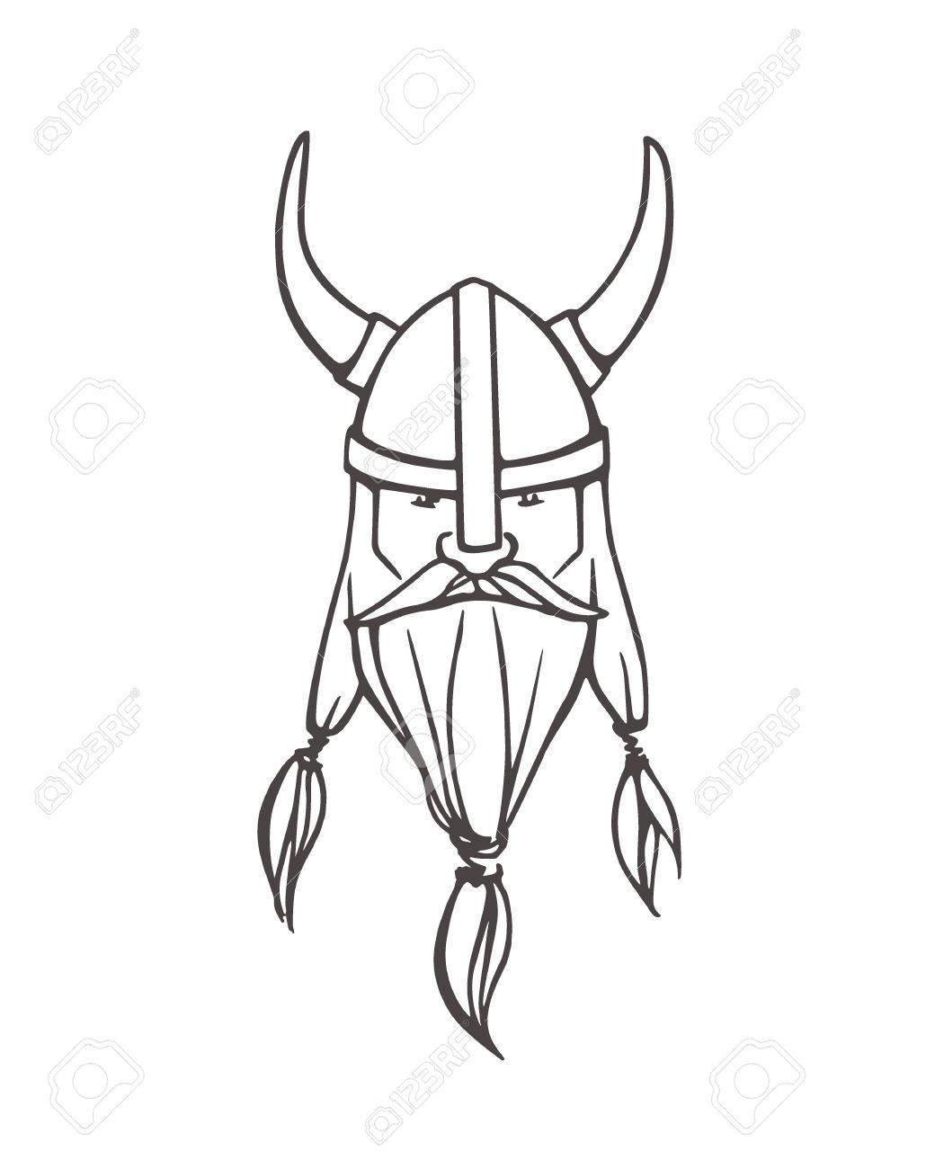 Viking Helmet Drawing Scales4u
