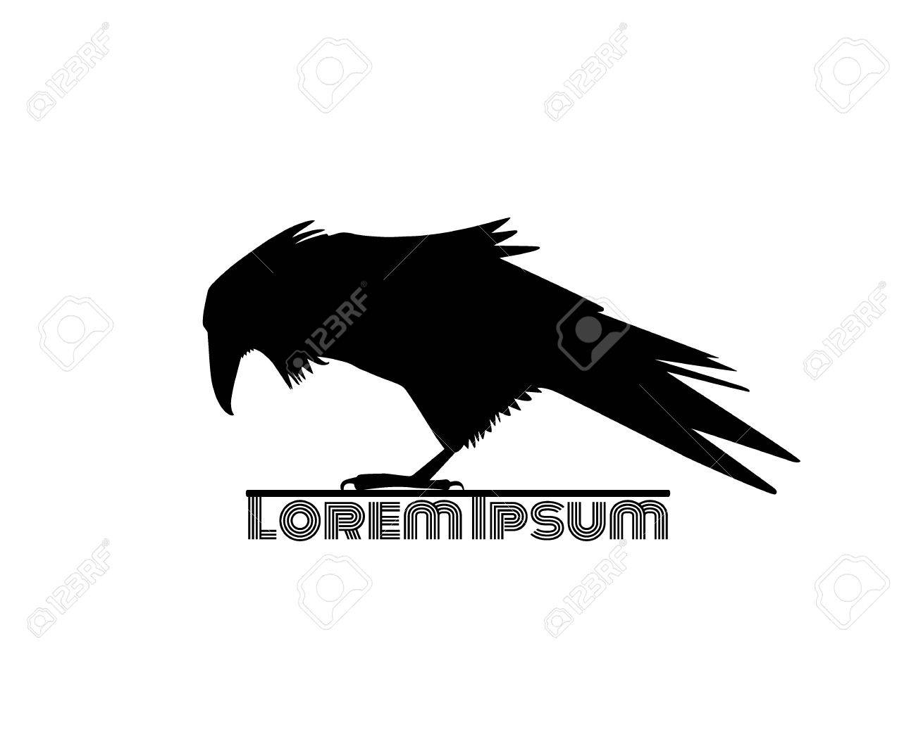 Raven Logo Template Royalty Free Cliparts, Vectors, And Stock ...