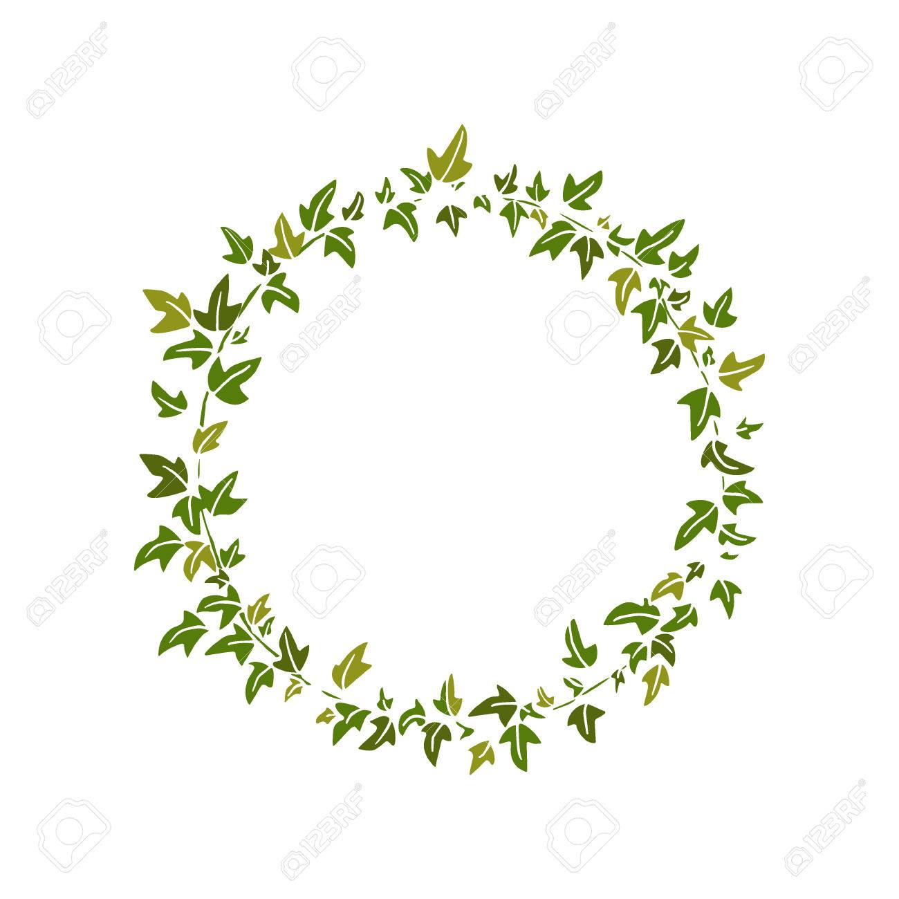 english ivy wreath royalty free cliparts vectors and stock