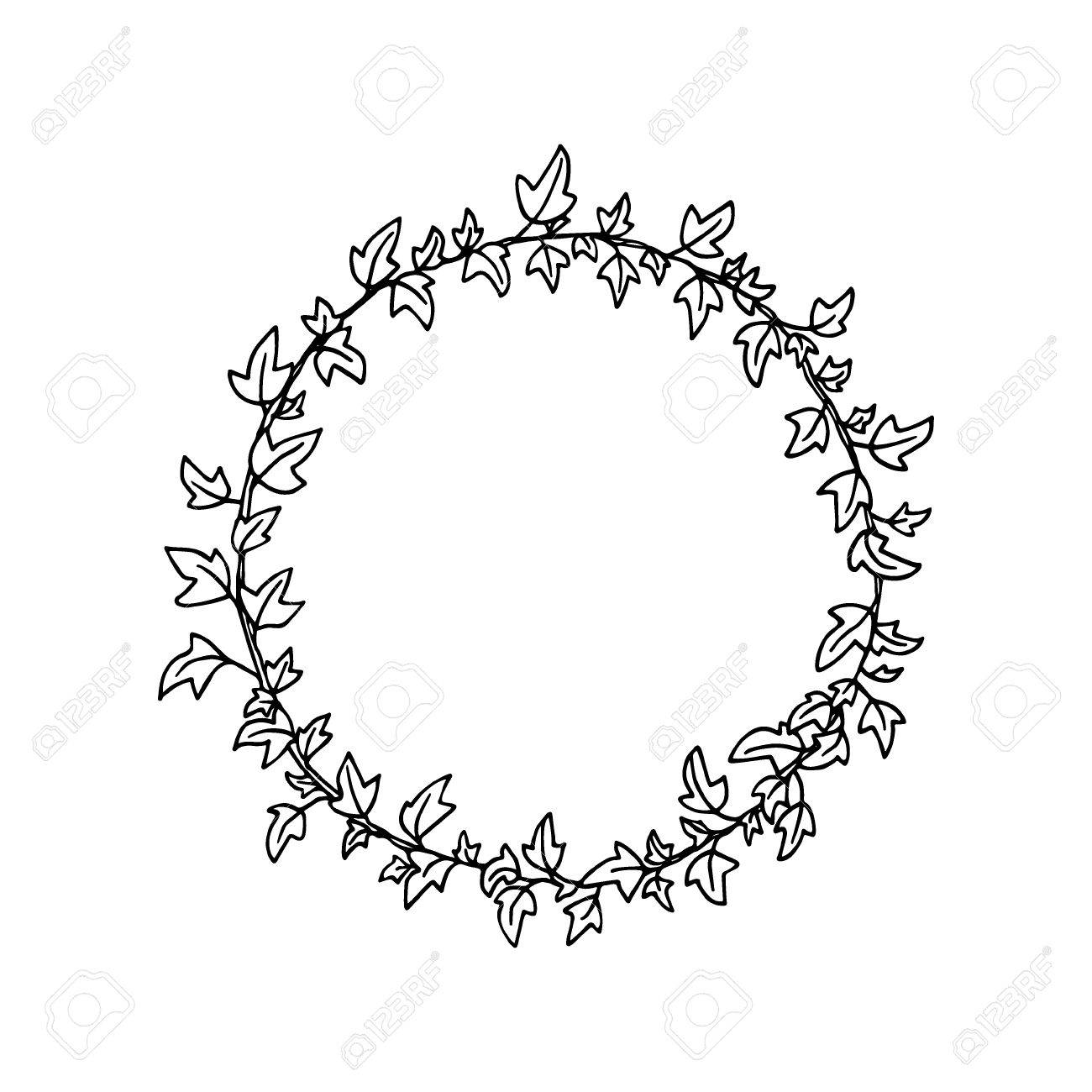 English Ivy Wreath Royalty Free Cliparts Vectors And Stock Illustration Image 79906514