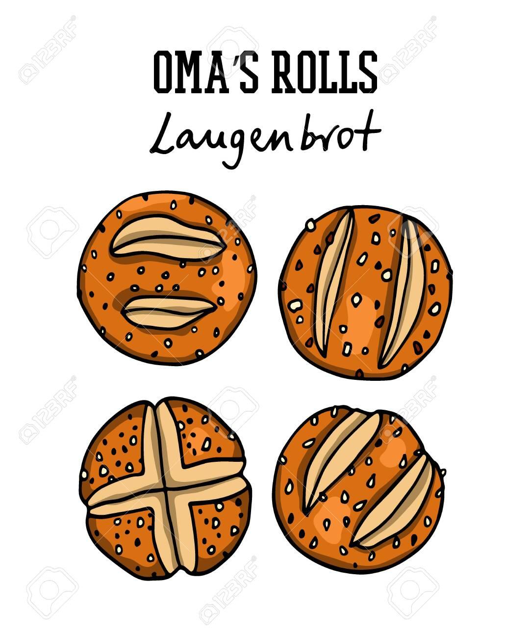 Hand drawn German bread - 136320162