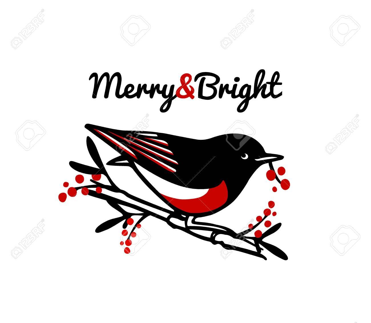 Hand drawn bird emblem - 136320163