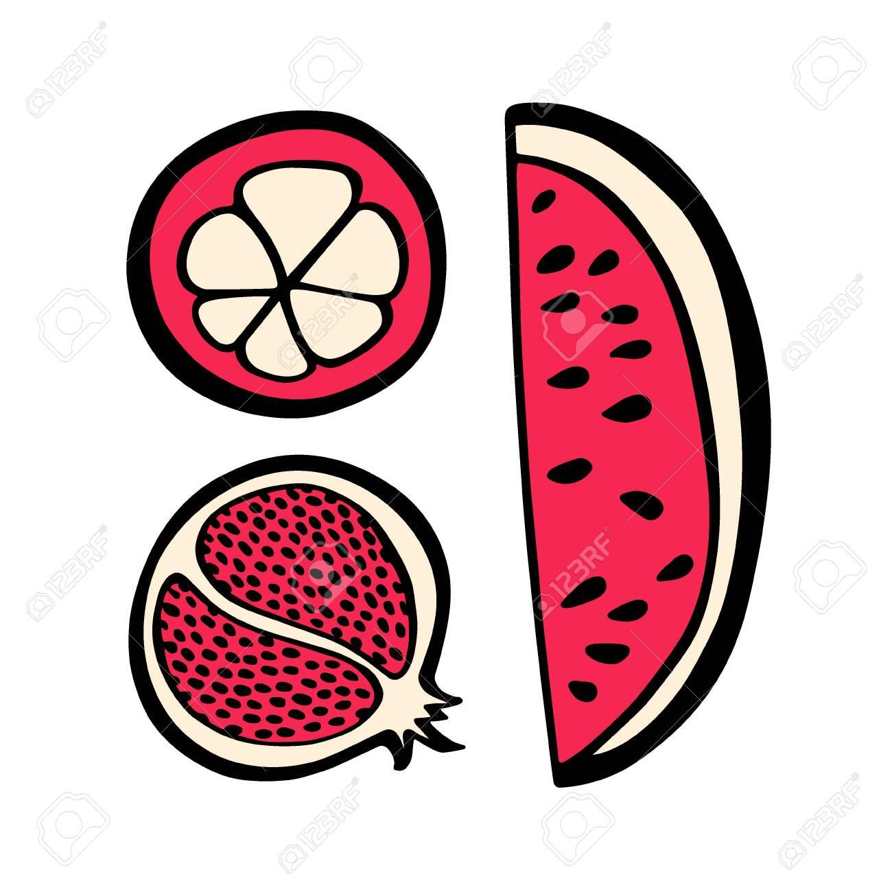 Hand drawn fruit - 136320170