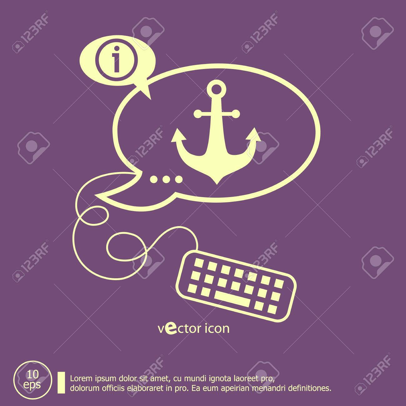 Anchor icon and keyboard design elements line icons for anchor icon and keyboard design elements line icons for application development web page coding biocorpaavc Choice Image