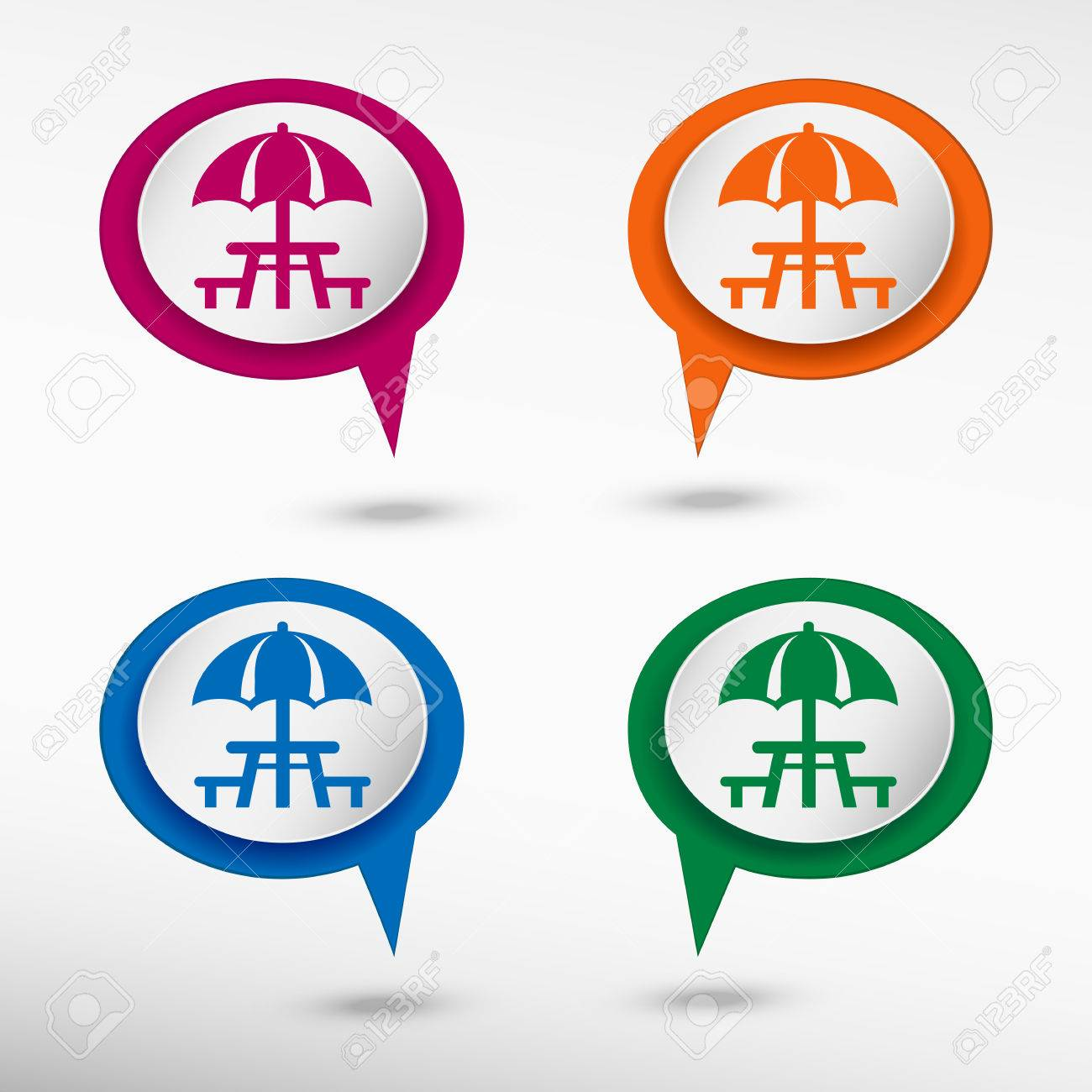 Camping and picnic table icon on colorful chat speech bubbles camping and picnic table icon on colorful chat speech bubbles stock vector 42261236 biocorpaavc
