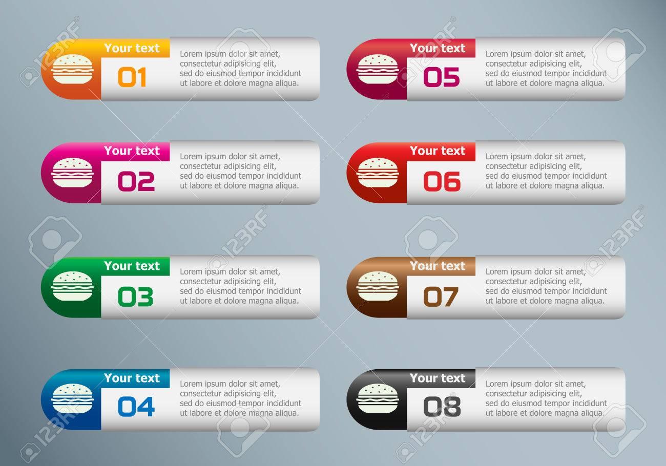 Iconos De Hamburguesa Y Marketing En Plantilla De Diseño De ...