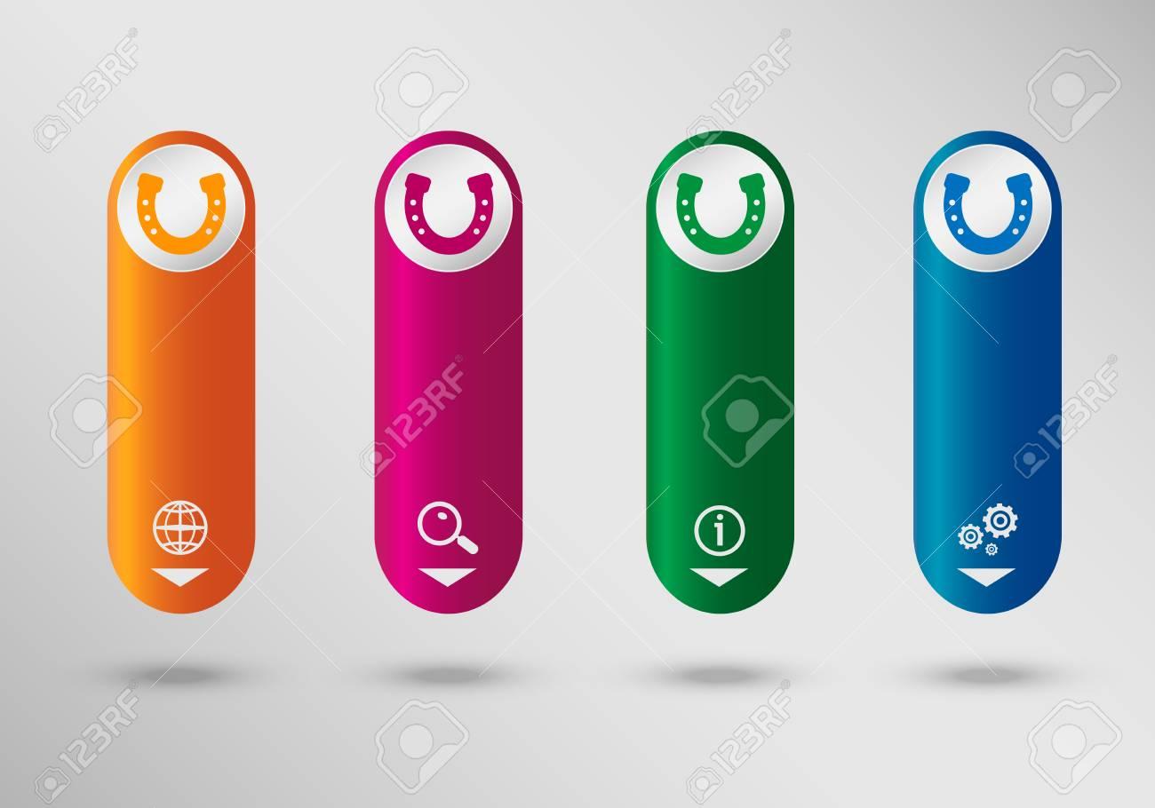 Hufeisen Auf Vertikale Infografik Design Vorlage Können Für Die