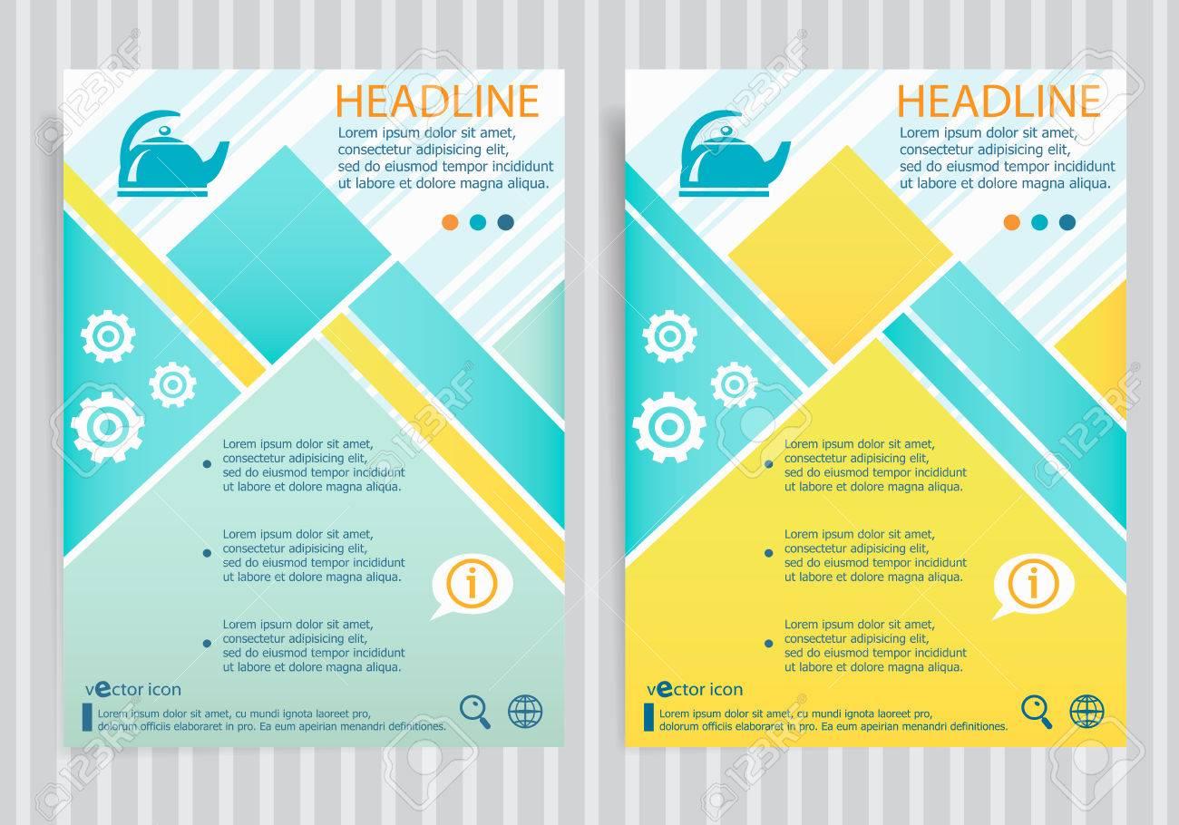 tea maker symbol on vector brochure flyer design layout template