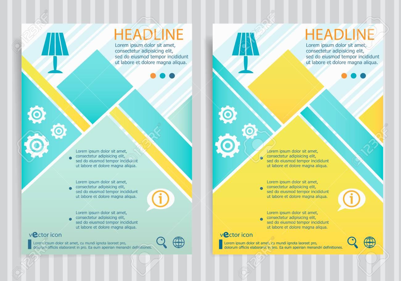 Table Symbol Design Template Layout Flyer Lamp On Vector Brochure 0wOnPk8