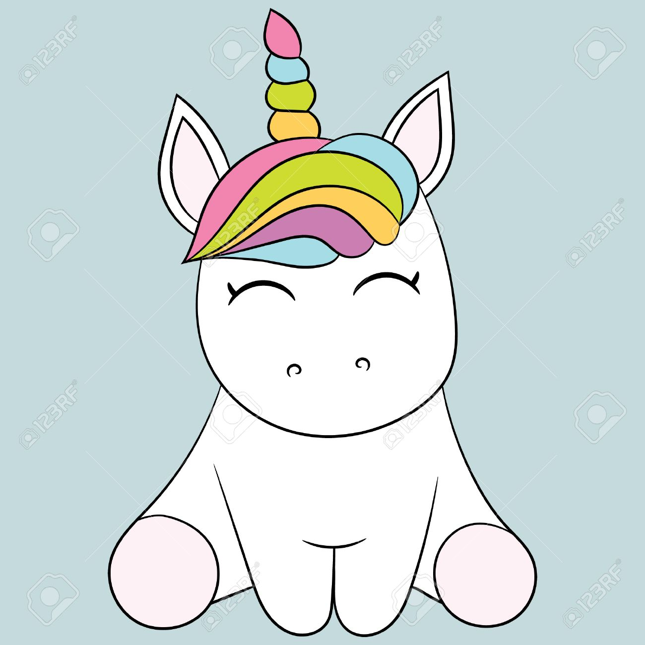 Childrens Illustration With A Cute Unicorn Best Choice For Cards Invitations Prints Or
