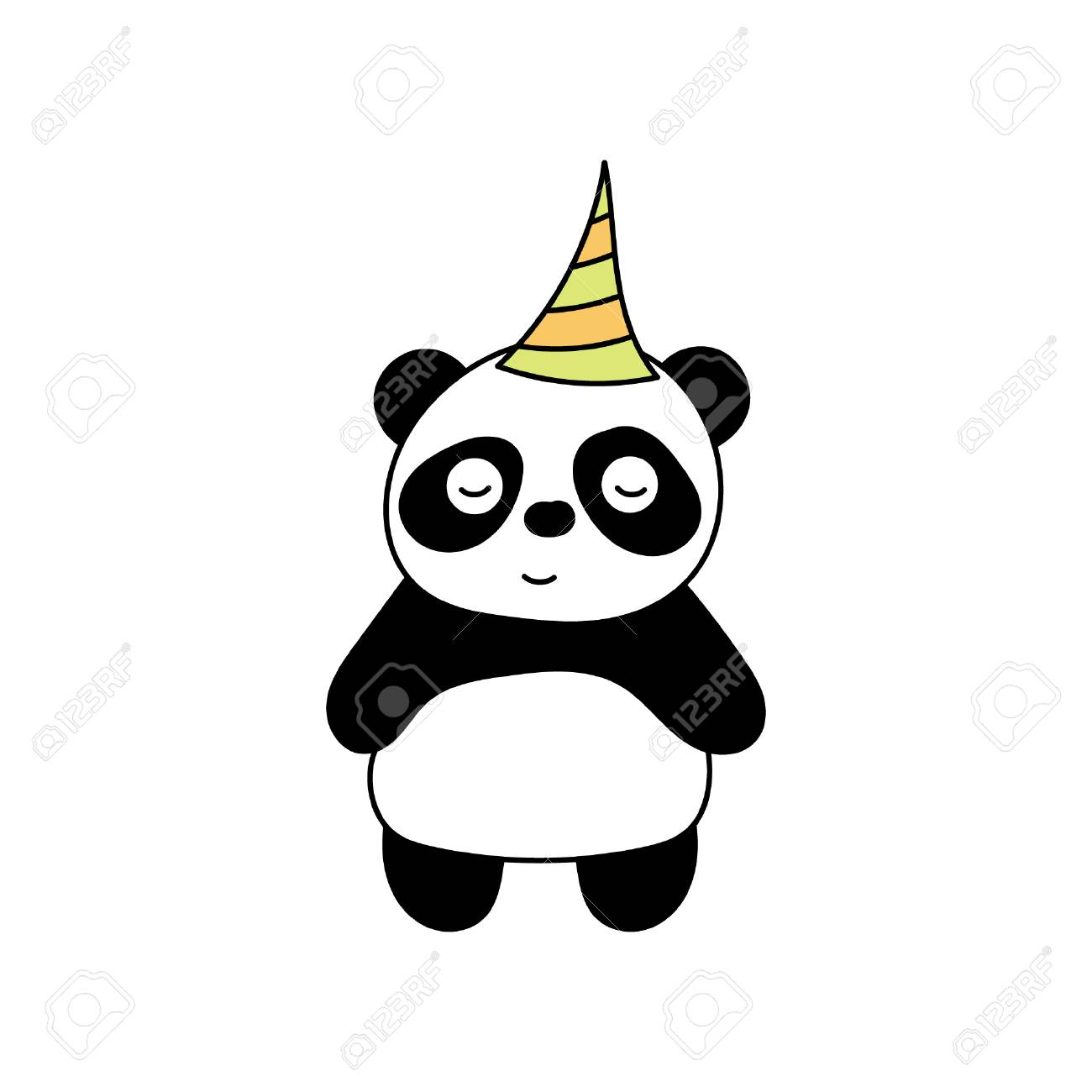 Children\'s Illustration With Panda. Best Choice For Cards ...