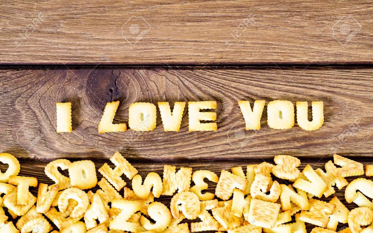Ich Liebe Dich Text Aus Den Salzigen Crackern Als Gedruckte
