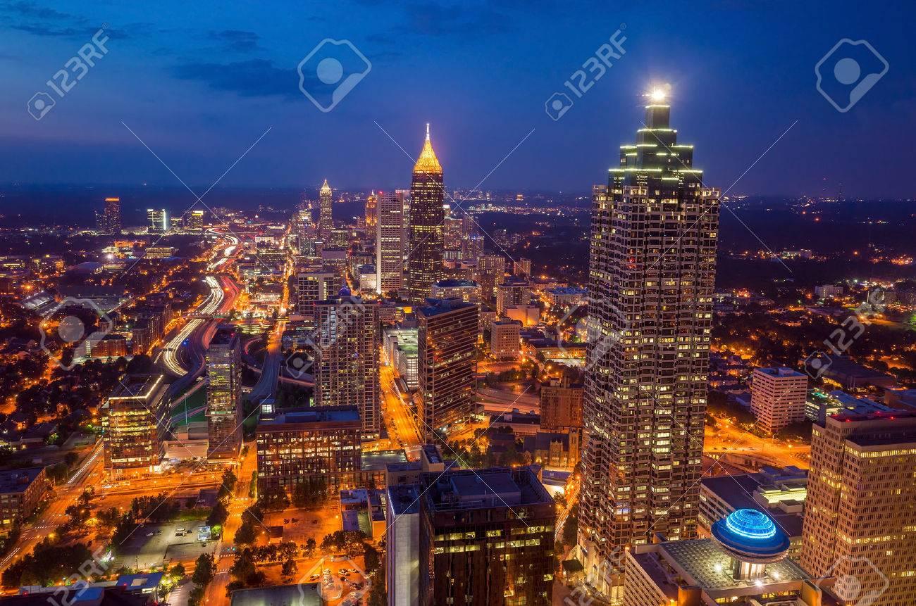 Skyline of downtown Atlanta, Georgia, USA Stock Photo - 34693642