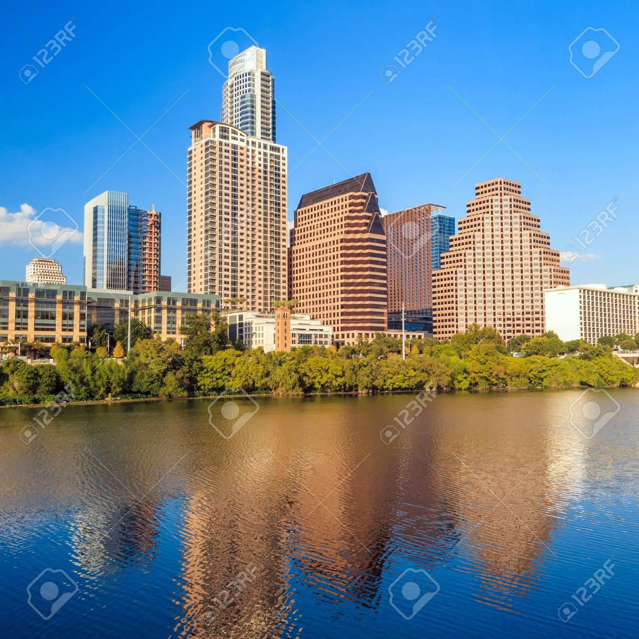 view of Austin, Texas downtown skyline Stock Photo - 36661130