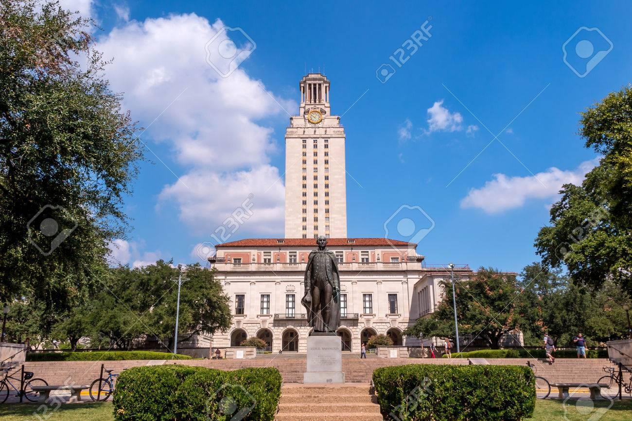 Blue Skies Of Texas >> University Of Texas Ut Against Blue Sky In Austin Texas