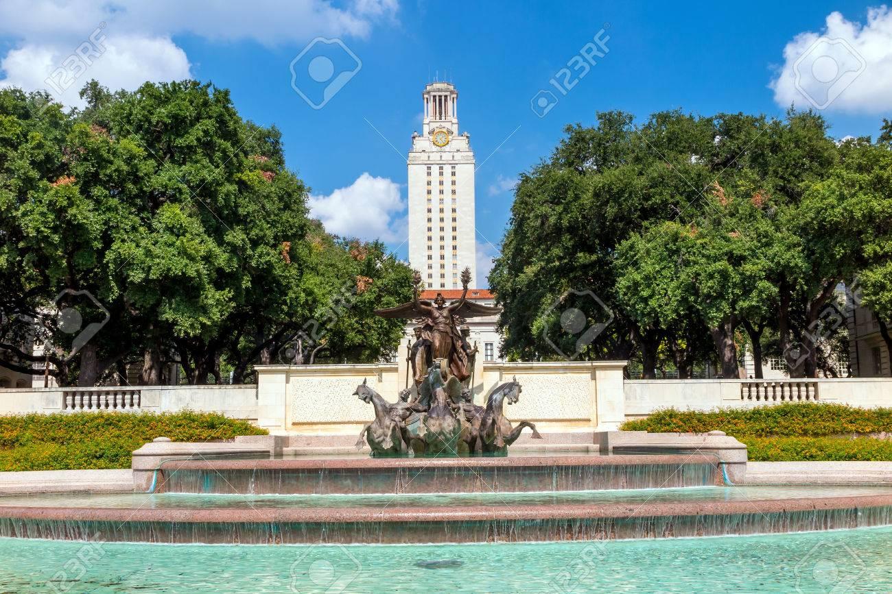 Blue Skies Of Texas >> University Of Texas Ut Against Blue Sky In Austin Texas Royalty