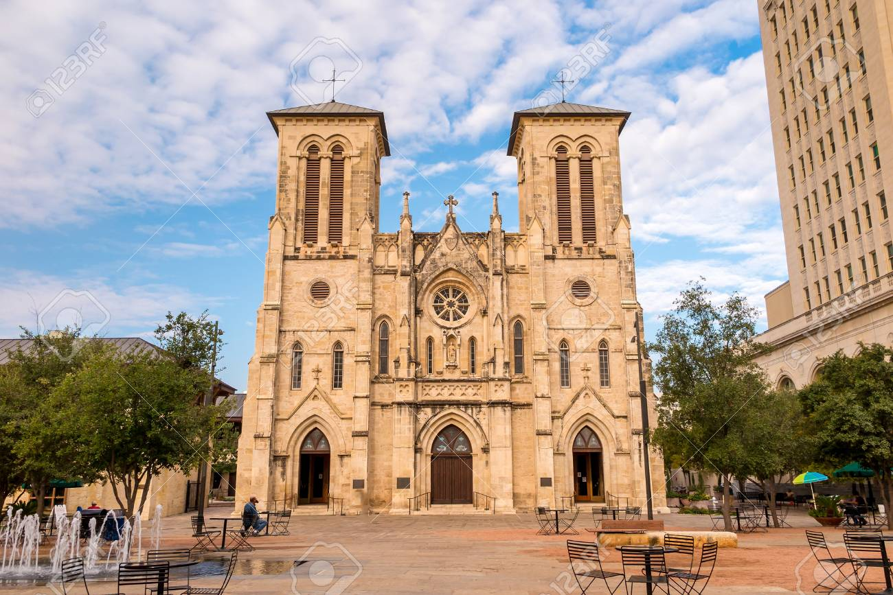 san fernando cathedral san antonio, texas stock photo, picture and