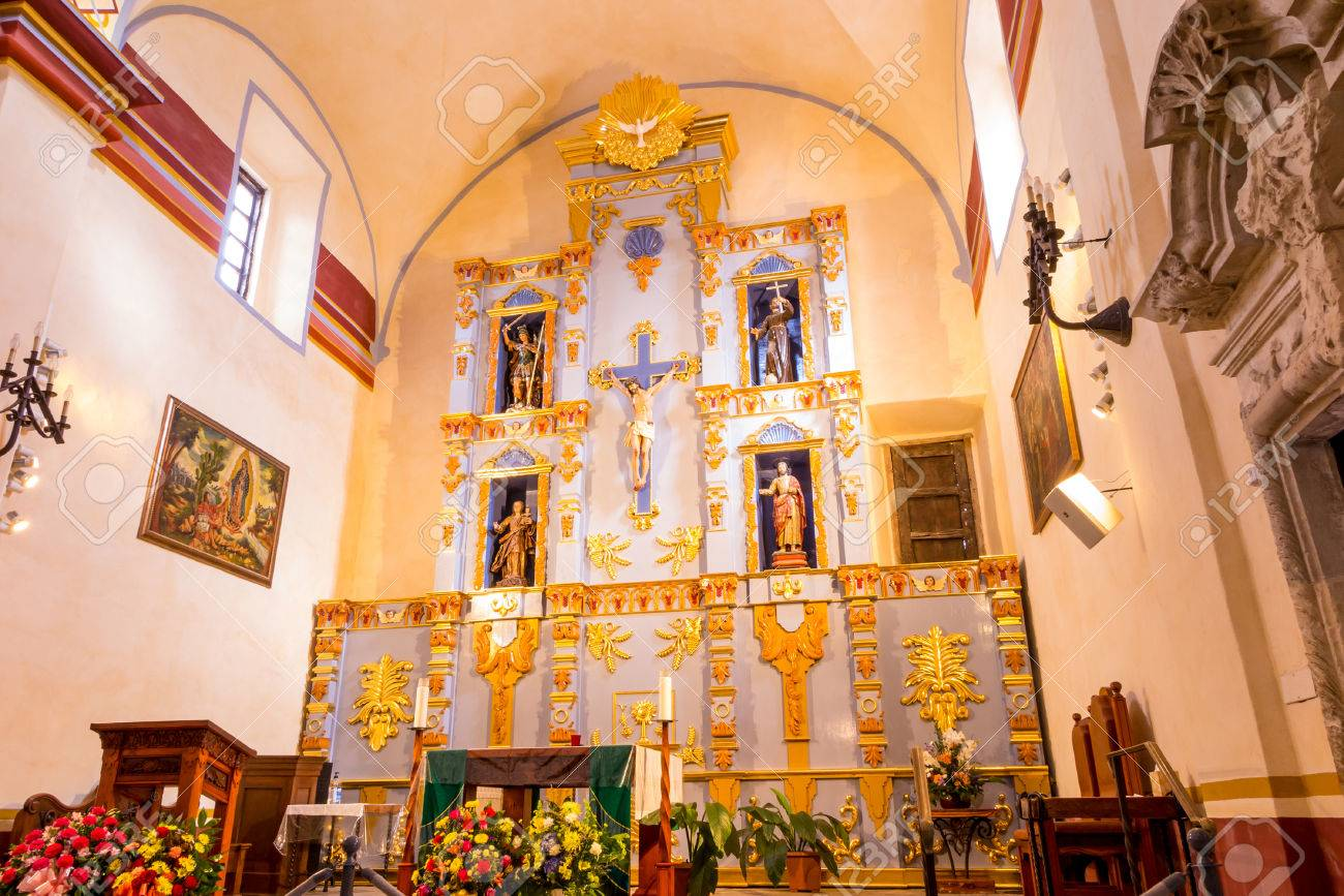Interior of Mission San Jose is a historic Catholic mission in