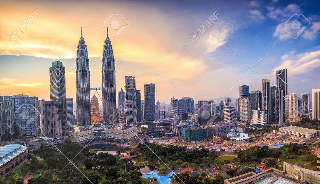 Top view of Kuala Lumper skyline at twilight Stock Photo - 45903544
