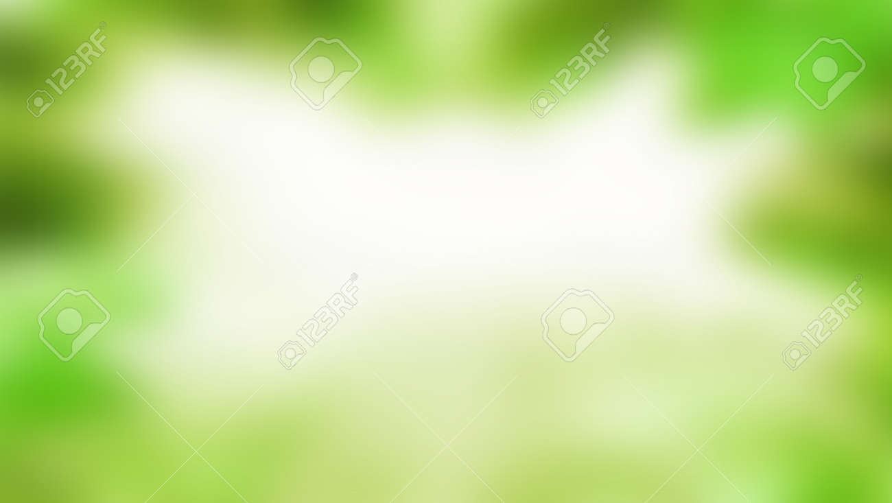 Green blurred background, green bokeh abstract light background - 157890462