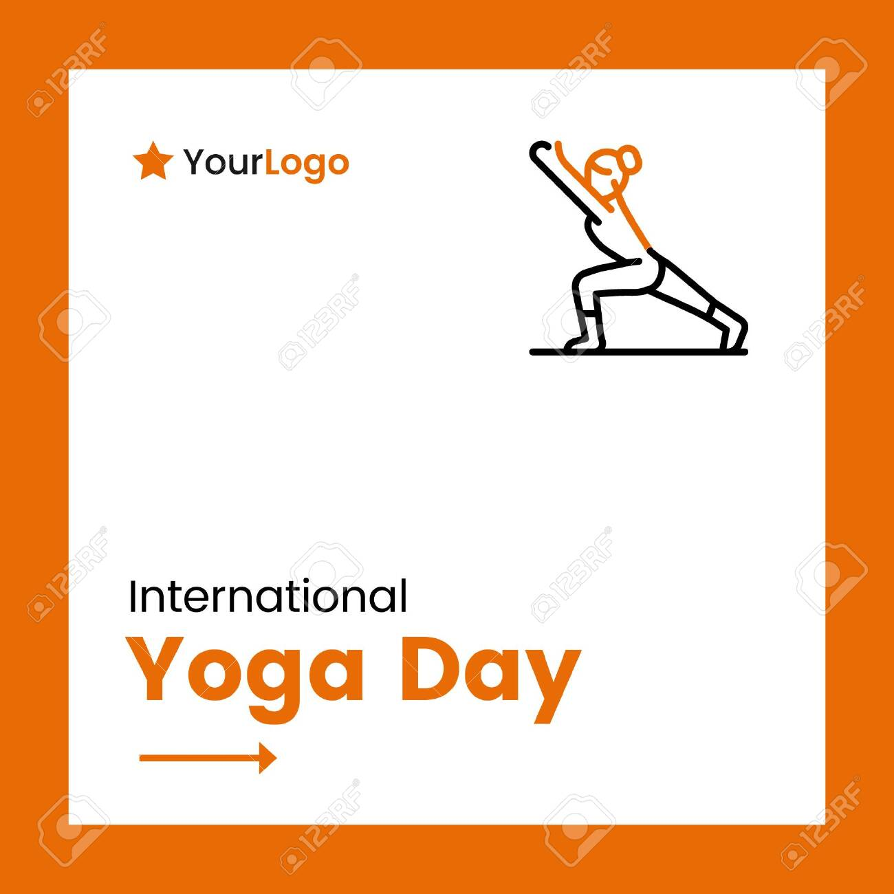 Vector Illustration Of International Yoga Day Banner Design Royalty Free Cliparts Vectors And Stock Illustration Image 139014043