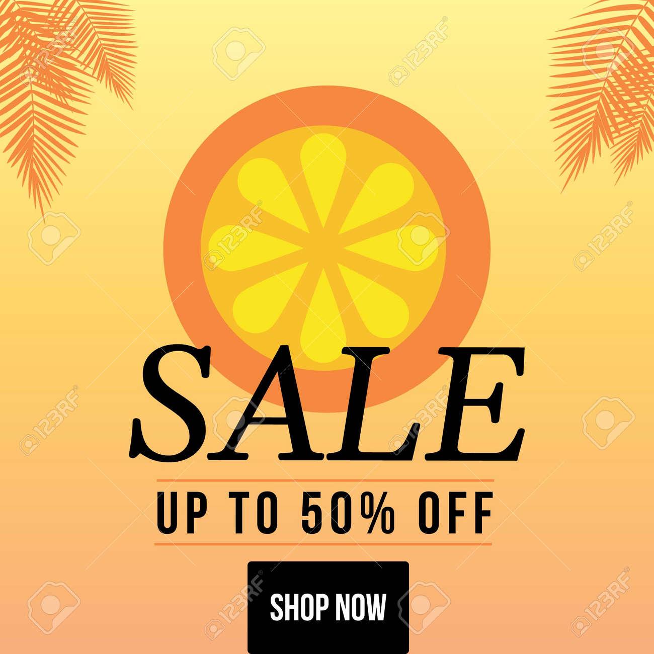 Banner design of summer sale template. Vector graphic illustration. - 171677501